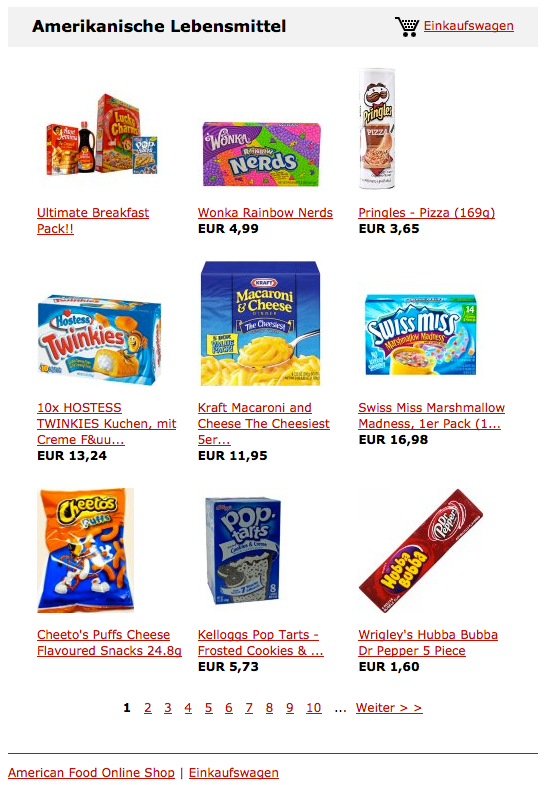 American Food Onlineshop