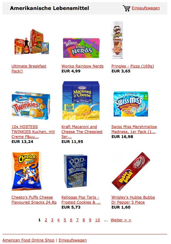 American Food Onlineshop