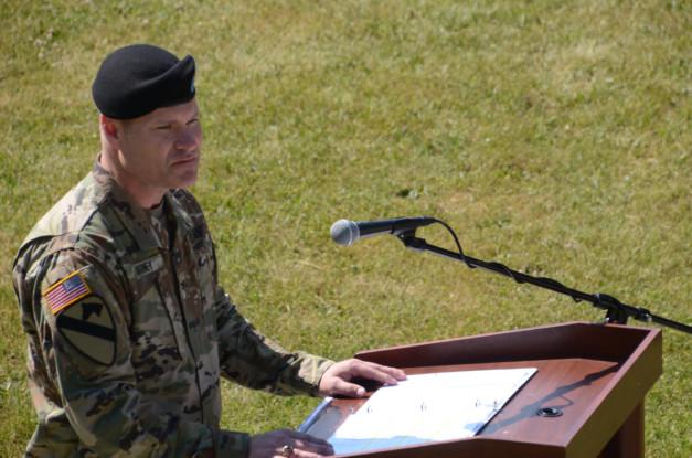 Colonel Lance C. Varney bei seiner Verabschiedung der US-Armee Garnison Bavaria. -- Bild: US-Armee Garnison Bavaria