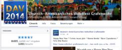 volksfest-grafenwoehr.de: Mehr als 14.000 Fans auf Facebook -- Bild: Screenshot Facebook