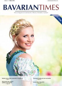 Das Cover der ersten Ausgabe des Bavarian Times Magazine.