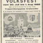 Sonderstempel der Bundespost 1982 anlässlich des Deutsch-Amerikanischen Volksfest. -- Bild: Archiv Kultur- und Militärmuseum Grafenwöhr