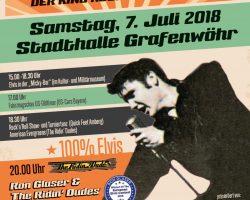Elvis Presley: Der King rockt beim Konzert in Grafenwöhr am Samstag den 7. Juli 2018 mit Ron Glaser & The Ridin' Dudes . -- Bild: Kultur- und Militärmuseum Grafenwöhr und Stadt Grafenwöhr