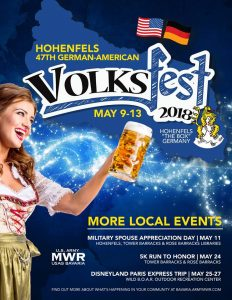Deutsch-Amerikanisches Volksfest Hohenfels 2018 - 09. bis 13. Mai 2018-- Bild: MWR Bavaria