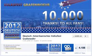 Cover der Facebook Fanseite des Deutsch-Amerikanischen Volksfest Grafenwöhr.