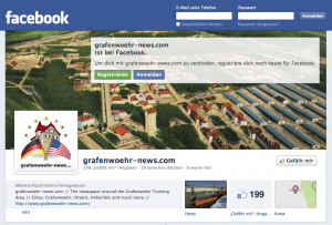 Unser Bild zeigt die Fanseite auf Facebook von grafenwoehr-news.com.