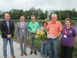 Jörg Hoier, Franz Stahl, Franz Häring, Maria und Manfred Renner sowie Eva Linder (v.l.)  ©: Gartenschau Tirschenreuth