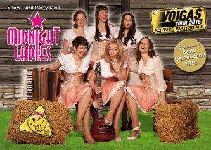 Die Midnight Ladies Show- und Partyband, das sind Tanja, Heike, Olivia, Katy, Nadine und Anni -- Bild: Midnight Ladies