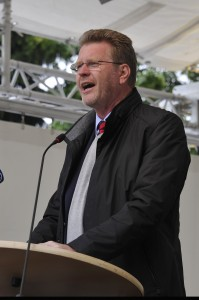 Minister Dr Marcel Huber bei der Festrede - Bild: Gartenschau Tirschenreuth
