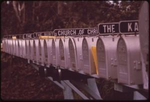 US amerikanischer Briefkasten -- Bild: Charles O'Rear, 1941-, Photographer (NARA record: 3403717)