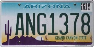 US Nummernschilder / Autokennzeichen / Plates Arizona - The Grand Canyon State -- Bild: Marduk (wikipedia.org)