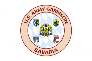 Logo der U.S. Army Garrison Bavaria mit ihren vier Standorten in Grafenwöhr, Vilseck, Hohenfels und Garmisch-Partenkirchen. -- Photo Credit: U.S. Army Garrison Bavaria