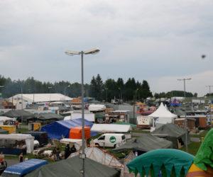 Blick über den Festplatz des Deutsch-Amerikanische Volksfest Grafenwöhr.