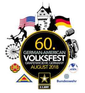 Logo des Deutsch-Amerikanischen Volksfest Grafenwöhr 2018, das Logo wurde von Grafenwoehr Family and MWR gestaltet. — Bild: US-Armee Garnison Bavaria