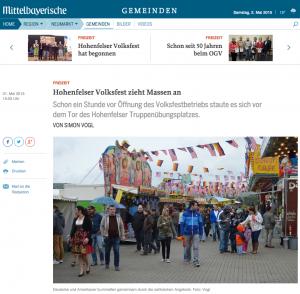 Hohenfelser Volksfest zieht Massen an -- Bild/Screenshot: Mittelbayerische Zeitung