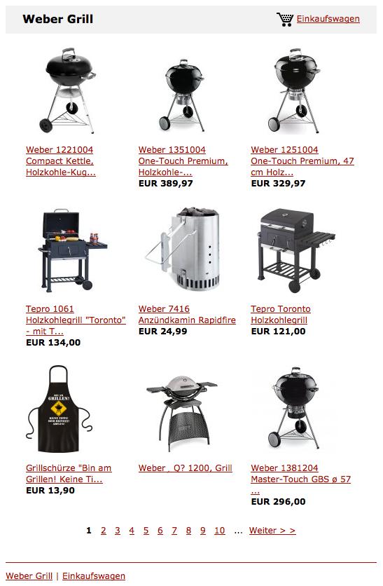 Weber Grill, Kugelgrills und Gasgrills online kaufen